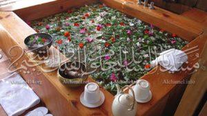 علاج الامراض بالحمامات العشبية والنباتية.